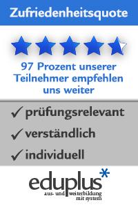 Zufriedenheitsquote eduplus Kunden